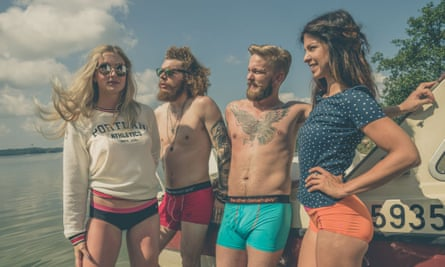 Sea change: Ocean Discovery underwear is made from salvaged flotsam and jetsam.