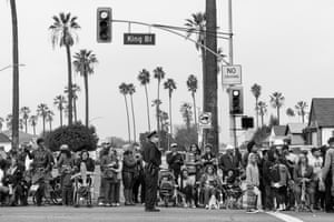 Martin Luther King Day parade, Los Angeles, from the series Americans Parade by George Georgiou   Americans Parade focuses on American society in 2016. Georgiou toured the country in search of parades that covered different demographic sectors, visiting 24 cities in 14 states