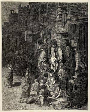Wentworth Street, Whitechapel ... 'From the Refuge by Smithfield we rattled through dark lanes, across horrid, flashing highways, to the Whitechapel Police Station, to pick up the superintendent of savage London.'