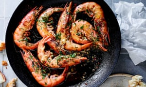 Matt McConnell's soft shell prawns al ajillo