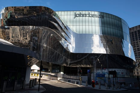 The John Lewis at Birmingham's Grand Central shopping area, now closed permanently.