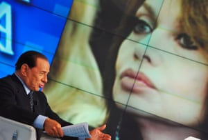 May 2009: Berlusconi appears on the TV show Porta a Porta. Berlusconi said during the show that the suggestion by his then wife and the Italian media that he had had a relationship with an 18-year-old girl was a lie