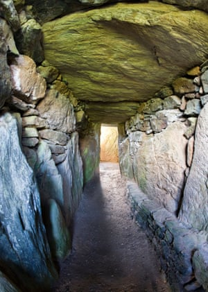 The passageway and chambers of Bryn Celli Ddu.