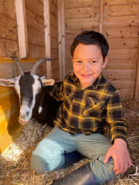 'He has embraced country life.' Rachel Paske's son.