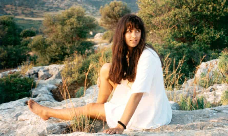 Polly Samson on Kastellorizo, Greece, in 1993.