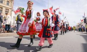 Members of the Polish community in Stratford-upon-Avon.