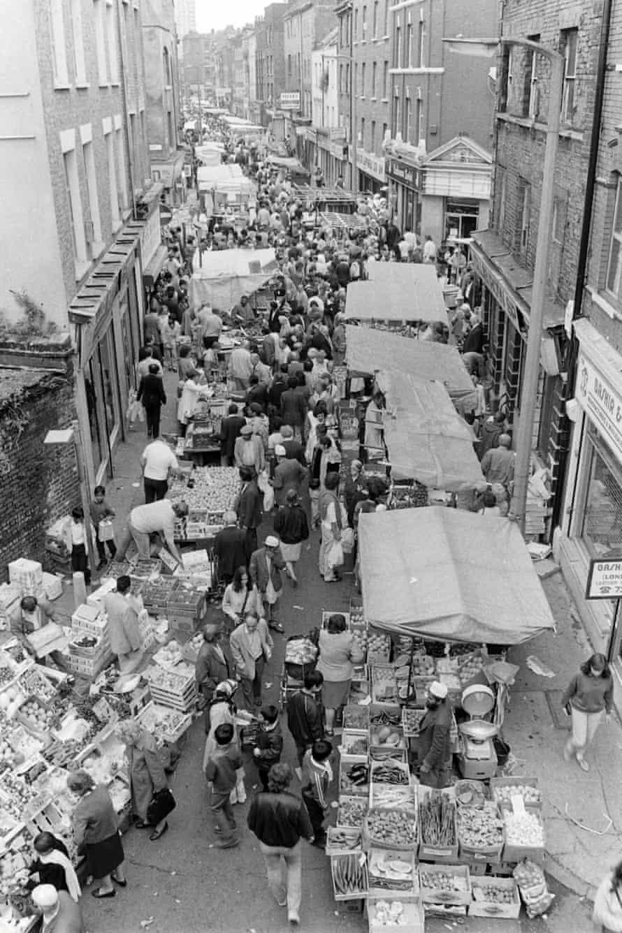 Brick Lane Sunday market, 1985.