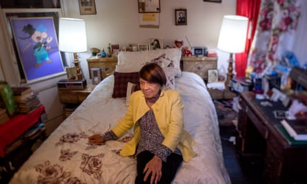 Iris Canada in the bedroom of the home in San Francisco where she lived more than half her life.