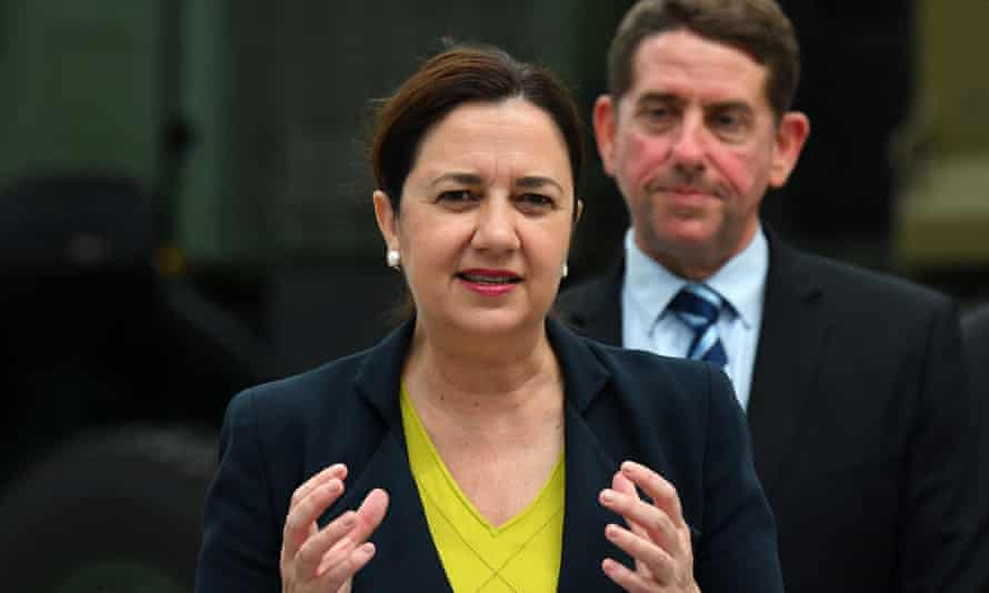 Queensland premier Annastacia Palaszczuk and treasurer Cameron Dick