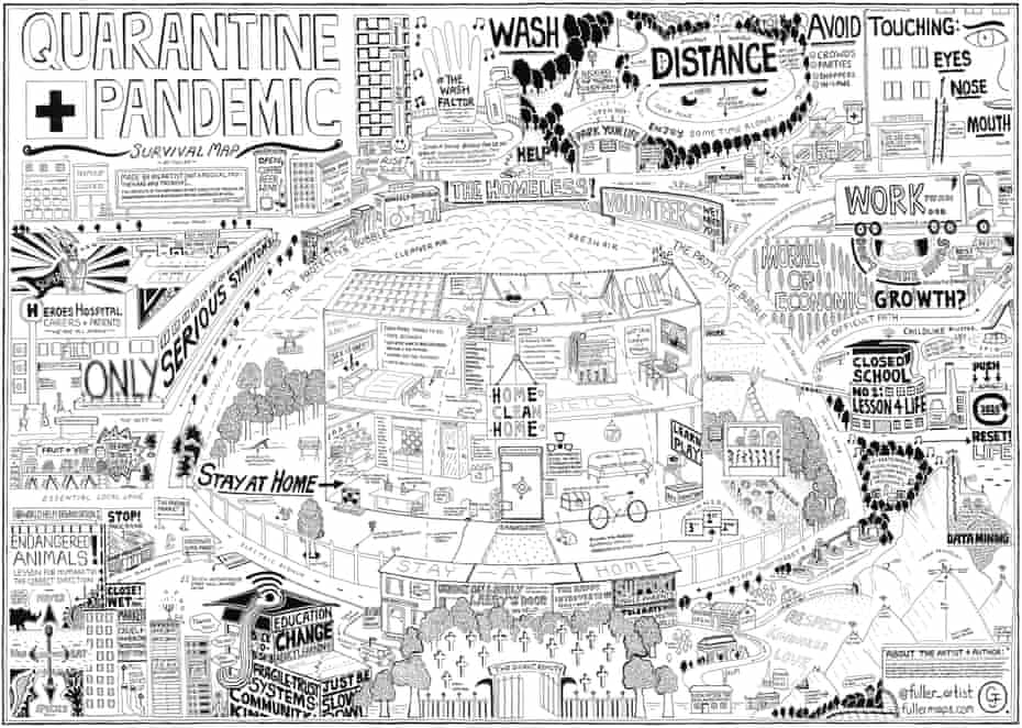 Fuller's Quarantine + Pandemic Survival Map.
