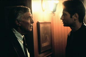 As Alvin Kurtzweil, MD in The X-files: Fight The Future, 1998, with David Duchovny