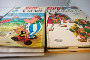 Splatch! A pair of Asterix books.