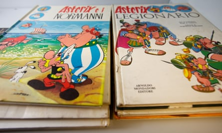 The iconic French comic series Asterix by René Goscinny and Albert Uderzo.