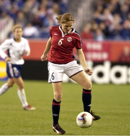 Hege Riise in action against the US.