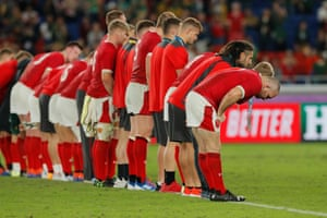 Wales bow to the fans as they exit the World Cup.