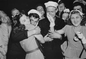 Joy on VJ Day, New York, August 15 1945