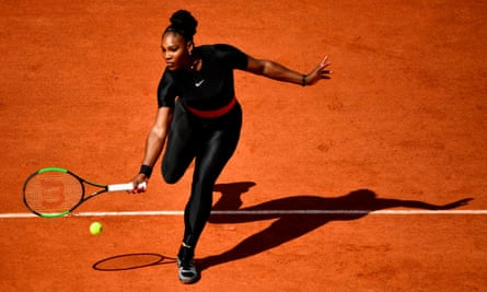 'A warrior' … Serena Williams at the French Open.