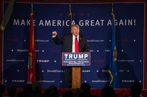 Republican presidential candidate Donald Trump speaks to the crowd on December 7, 2015 in Mt. Pleasant, SC.