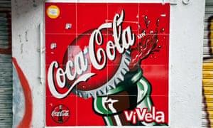 A Coca-Cola sign in Mexico City.