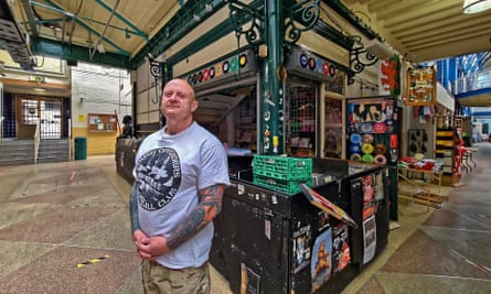 'This is the heart and soul of Newport': Dean Beddis by the record stall he has just packed up for the last time.