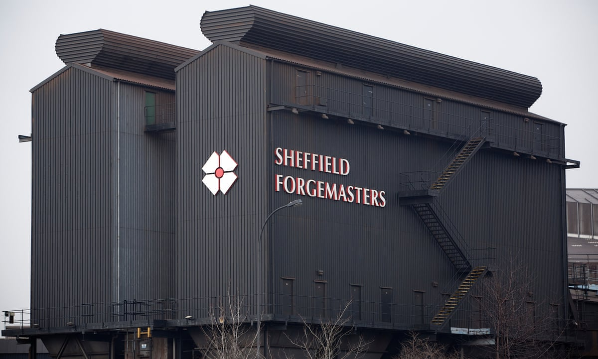 sheffield forgemasters to cut up to 100 jobs as steel. Black Bedroom Furniture Sets. Home Design Ideas