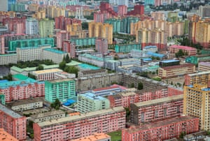 Apartment blocks from higher elevation