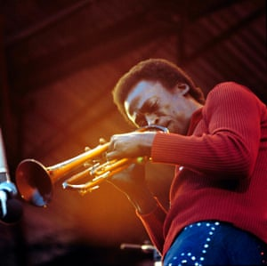 Miles Davis at the Isle of Wight festival,  1970