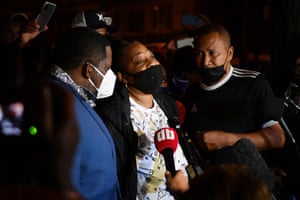 Walter Wallace's mother speaks to the press about the police killing of her son.