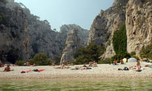 Beach at En Vau Calanque, near Cassis, France.