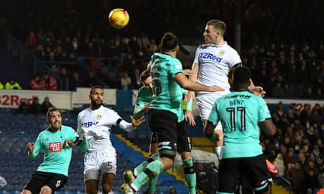 Chris Wood heads Leeds up to third with win over Derby County