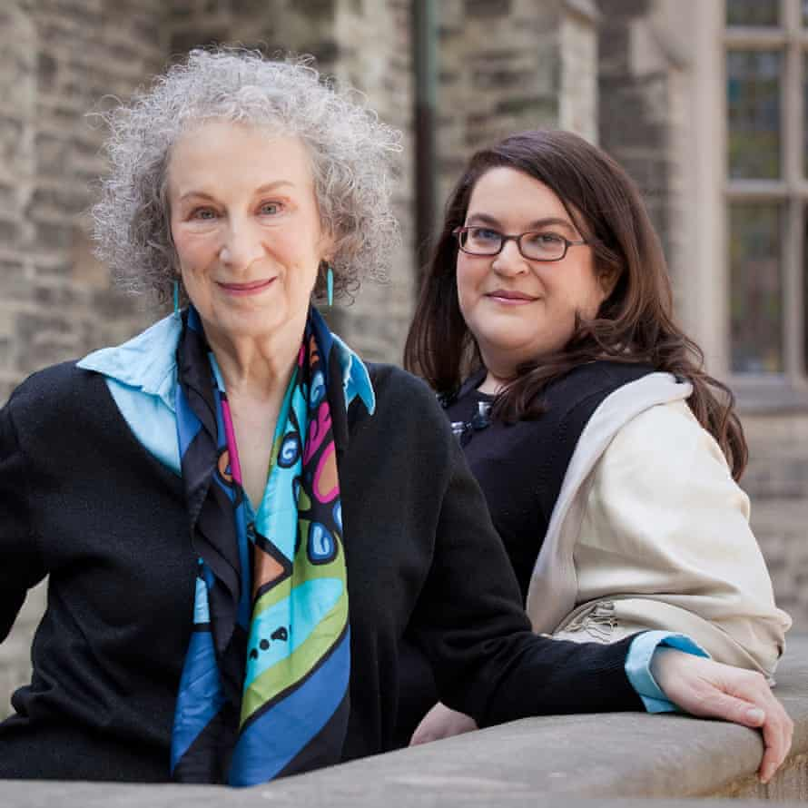 Atwood with Naomi Alderman, whom she mentored during the writing of The Power.