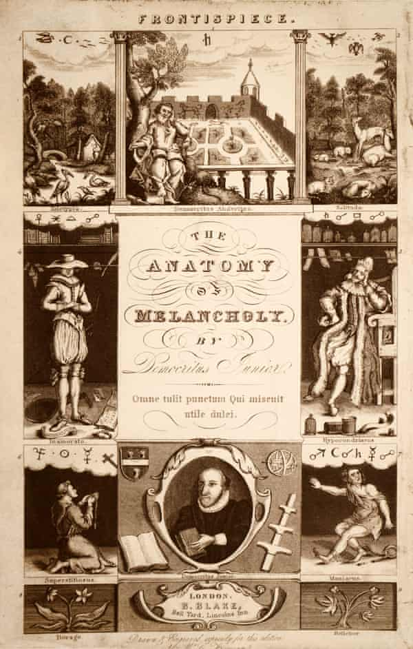 Frontispiece from Robert Burton's 'The Anatomy of Melancholy' London, 1836.