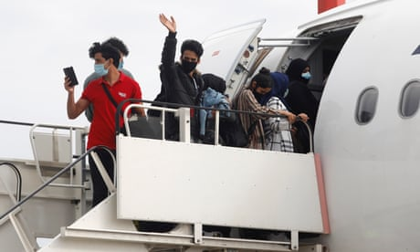 Refugee families reunited in UK after rescue flight from Greece