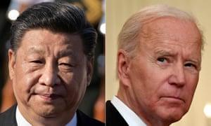 Chinese President Xi Jinping and US President Joe Biden.