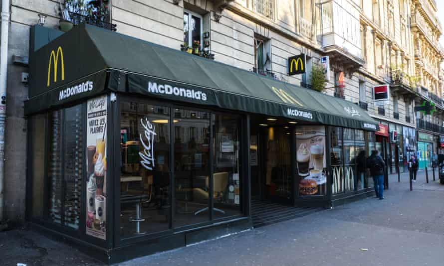 General view of a McDonald's restaurant, in the 14th quarter of Paris
