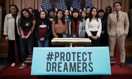 Daca recipients during a press conference in Washington. Hundreds of thousands of undocumented young people face an uncertain future.