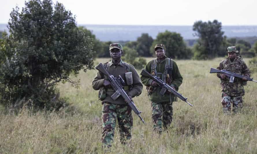 Wildlife rangers at the Ol Pejeta conservancy in Kenya
