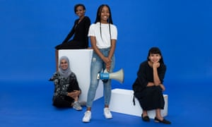 Left to right: Suhaiymah Manzoor-Khan, Bethel Tadesse, Liv Cornibert, Helen Brewer
