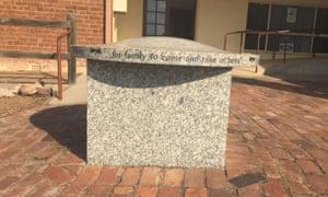 Memorial at former girls' home Cootamundra