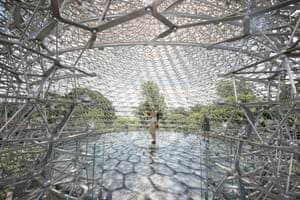 The Hive, the latest attraction at Kew Gardens, London. The Hive, an ethereal 17-metre tall installation designed by artist Wolfgang Buttress