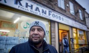 Basharat Khan outside his butcher's shop, formerly the Hyndburn Inn