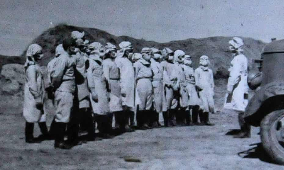 Members of Japan's Unit 731 in China in 1940