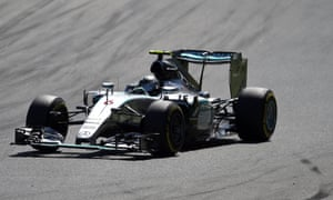 Nico Rosberg, hoping to move up the pack.