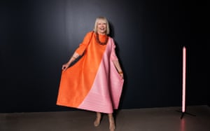 Vivien Knowles at the National Gallery of Victoria's fashion exhibition Collecting Comme