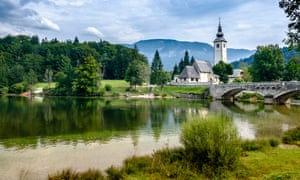 Lake Bohinj in Slovenia's Triglav national park.