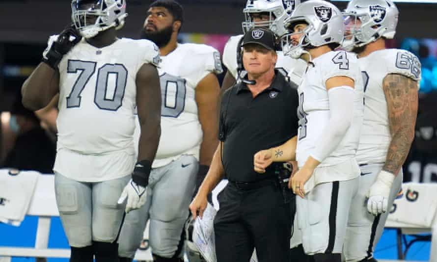 Jon Gruden resigned as Las Vegas Raiders coach on Monday