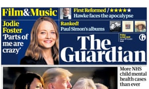 Guardian front page, Friday 13 July