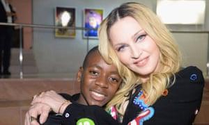 Madonna and her son David Banda