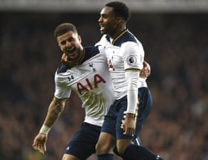 Tottenham pair Kyle Walker, left, and Danny Rose are targets for Pep Guardiola.