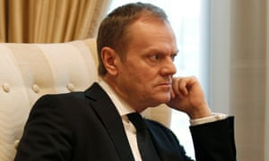 Donald Tusk during a meeting at the Maximos Mansion in Athens, Greece
